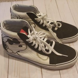 Vans 9.5 snoopy hi tops